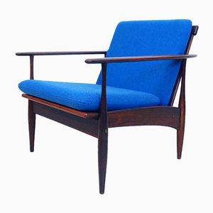 Vintage Scandinavian Rosewood Lounge Chair, 1960s