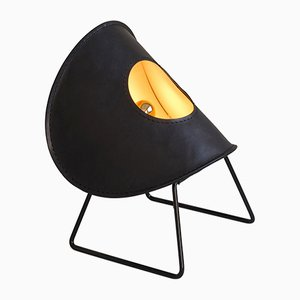 Lámpara de pie Zero One en negro pequeña de Jacob de Baan para Uniqka