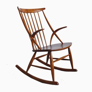 Rocking Chair par Illum Wikkelsø pour Niels Eilersen, 1950s