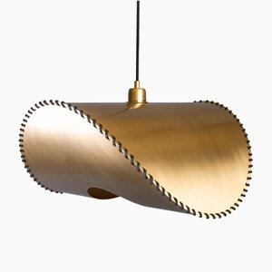 Lámpara con dos colgantes Zero grande dorada de Baan para Uniqka