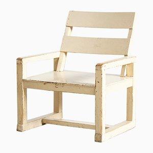 Sedia da bambino Bauhaus bianca, anni '50