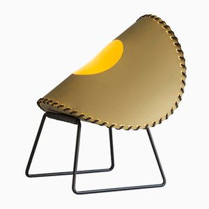 Small Gold Zero Two Standing Lamp by Jacob de Baan for Uniqka