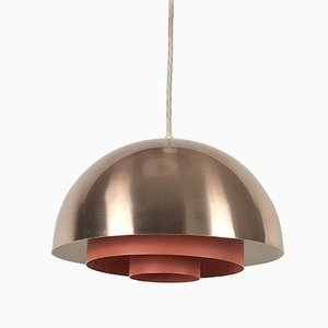 Danish Copper Milieu Lamp by Johannes Hammerborg for Fog & Mørup, 1960s