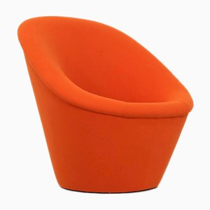 Space Age Orange Lounge Chair, 1970s