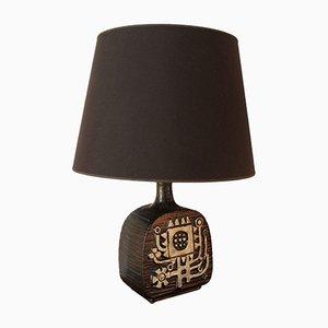 Lampada grande in ceramica con motivo astratto, anni '60