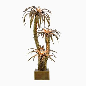 French Palm Tree Floor Lamp from Maison Jansen, 1970s
