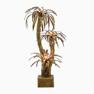 Lampada da terra a forma di palma di Maison Jansen, Francia, anni '70