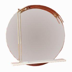 Großer italienischer Spiegel mit Beleuchtung, 1960er