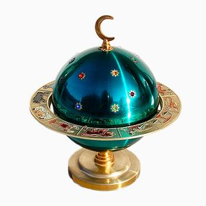 Novelty Zodiac Globe Zigarettenhalter in Globus-Optik, 1960er