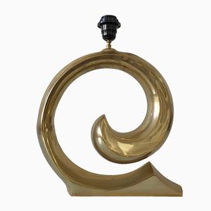 Lámpara de mesa escultural Mid-Century Modern de latón de Pierre Cardin, años 70