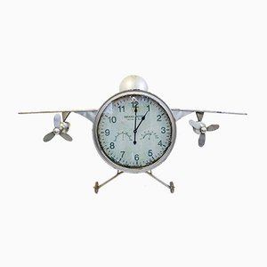 Vintage Metal F-30 Model Airplane Clock