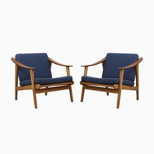 Danish Modernist Easy Chairs, 1960s, Set of 2