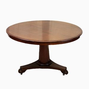 Mesa de desayuno victoriana antigua de caoba