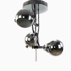 Space Age Deckenlampe aus Chrom, 1970er
