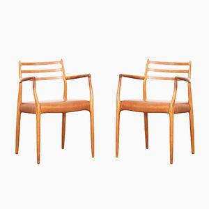Dänische 62 Armlehnstühle von Niels O. Møller für J.L. Møllers, 1960er, 2er Set