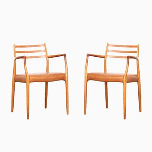 Danish 62 Armchairs by Niels O. Møller for J.L. Møllers, 1960s, Set of 2