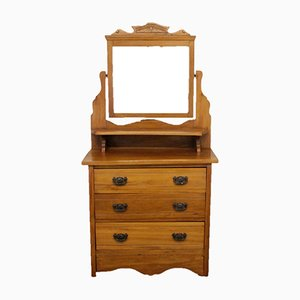 Edwardian Satin Walnut Chest of Drawers