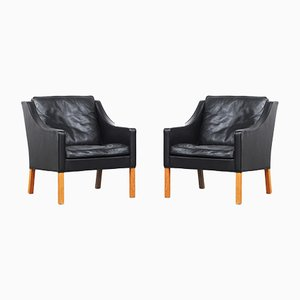 2207 Lounge Chairs by Børge Mogensen for Fredericia, 1970s, Set of 2
