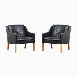 2207 Sessel von Børge Mogensen für Fredericia, 1970er, 2er Set