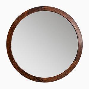 Specchio rotondo di Aksel Kjersgaard per Odder, anni '50