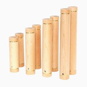 Mancuernas de madera de arce de Fritz Grospietsch & Andreas Bachmann para Kenkō. Juego de 4