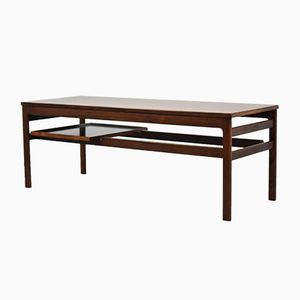 Rosewood Coffee Table with Serving Tray by Hans Olsen for Buck & Kjaer, 1958