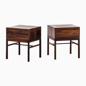 Casino Bedside Tables by Sven Engström & Gunnar Myrstrand for Tingströms, 1960s, Set of 2