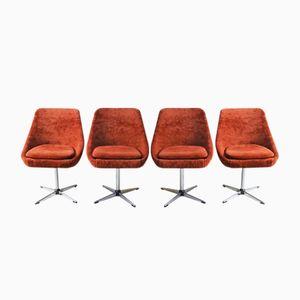Belgische Mid-Century Beistellstühle, 1960er, 4er Set
