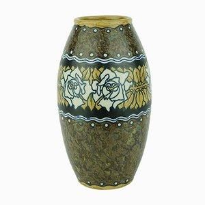 Art Deco Vase aus Steingut von Charles Catteau für Boch Frères, 1920er