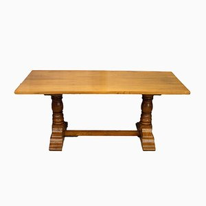 Vintage Hardwood Refectory-Style Dining Table