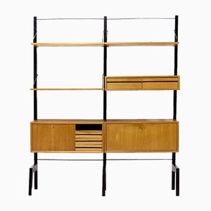 Free Standing Teak Royal System Wall Unit by Poul Cadovius for Cado, 1960s
