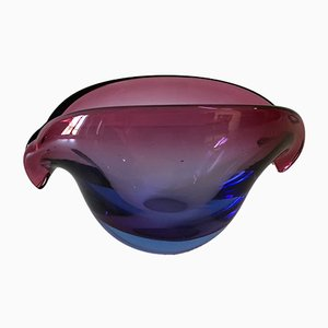 Cuenco vintage en forma de ojo de cristal de Murano de Flavio Poli para Seguso