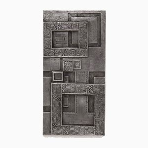 Brutalist Aluminum Wall Panel Relief, 1970s