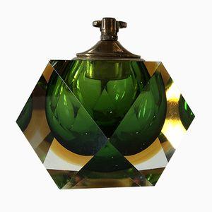 Lámpara de mesa vintage de cristal de Murano de Flavio Poli para Seguso