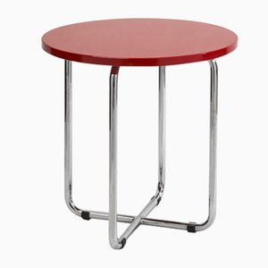AXA Side Table in Red by Rudof Netik for SLEZAK Factories