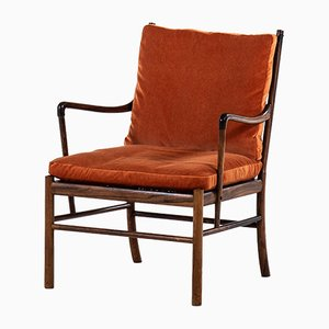 Vintage Colonial Armchairs by Ole Wanscher for Poul Jeppesens Møbelfabrik, 1960s, Set of 2