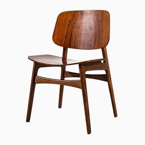 Model 122 Dining Chairs Børge Mogensen for Soborg, 1960s, Set 6