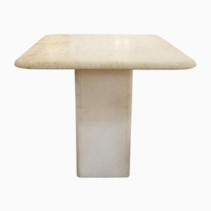 Vintage Square Travertine Table
