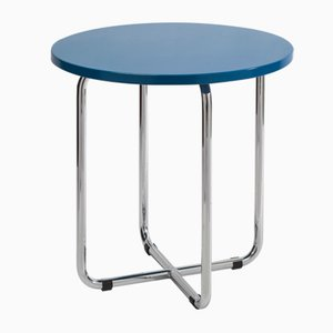 AXA Side Table in Blue by Rudolf Netik for SLEZAK Factories