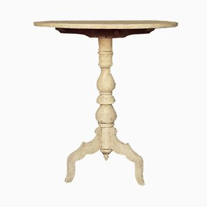 Antiker schwedischer Couchtisch mit schwenkbarer Tischplatte