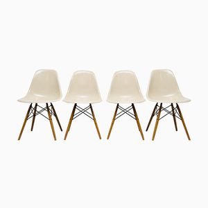 Vintage DSW Chairs by Charles & Ray Eames for Vitra, Set of 4