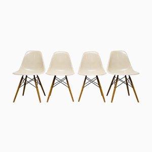 Vintage DSW Stühle von Charles & Ray Eames für Vitra, 4er Set