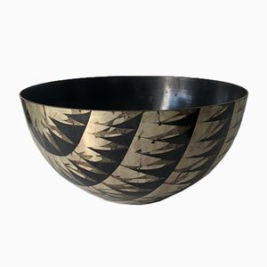 Bowl in Etched Metal by Lorenzo Burchiellaro, 1969