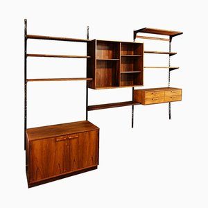 Rosewood Wall Unit by Kai Kristiansen, 1950s