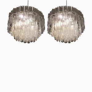 Kronleuchter aus Muranoglas von Gino Vistosi für Mazzega, 1970er