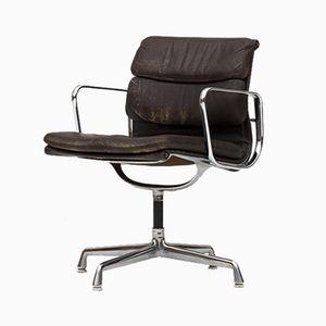 Sedia da scrivania imbottita e in alluminio di Charles & Ray Eames per Herman Miller, anni '60