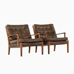Easy Chairs by Arne Norell for Arne Norell AB, 1960s, Set of 2