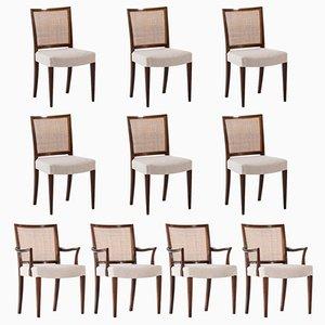 Chaises de Salle à Manger par Ernst Kühn pour Lysberg Hansen & Therp, 1950s, Set de 10