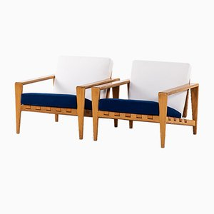 Swedish Model Bodö Easy Chairs by Svante Skogh for Seffle Möbelfabrik, 1950s, Set of 2