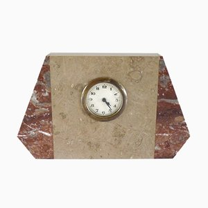 Small Fireplace Clock in Marble, 1930s
